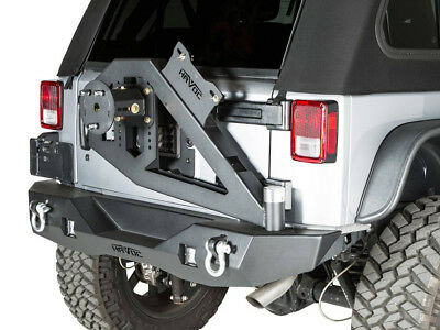 Havoc Offroad Aftershock Rear Bumper w/ Tire Carrier 2007-2017 Jeep Wrangler JK