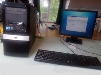 """Hewlett Packard HP Desktop Computer PC i3 Workstation with 17"""" Monitor, HP Keyboard, Mouse, 4GB RAM"""