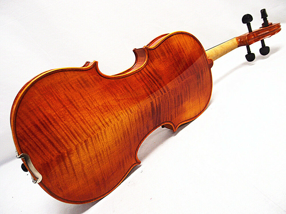 Good Quality 4/4 Nice Violin+Octagon Stick Bow+Rosin+Square Case/Free string set