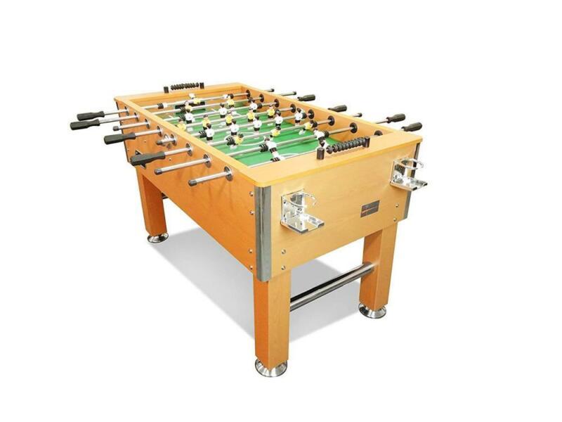 "Soccer Foosball Table Game Drink Cup Holders 60"" Indoor Heavy Duty Oak Gift New"