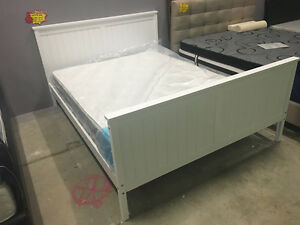 Quality New Solid Pine Wood White Bed Frame Double/Queen/King Clayton Monash Area Preview