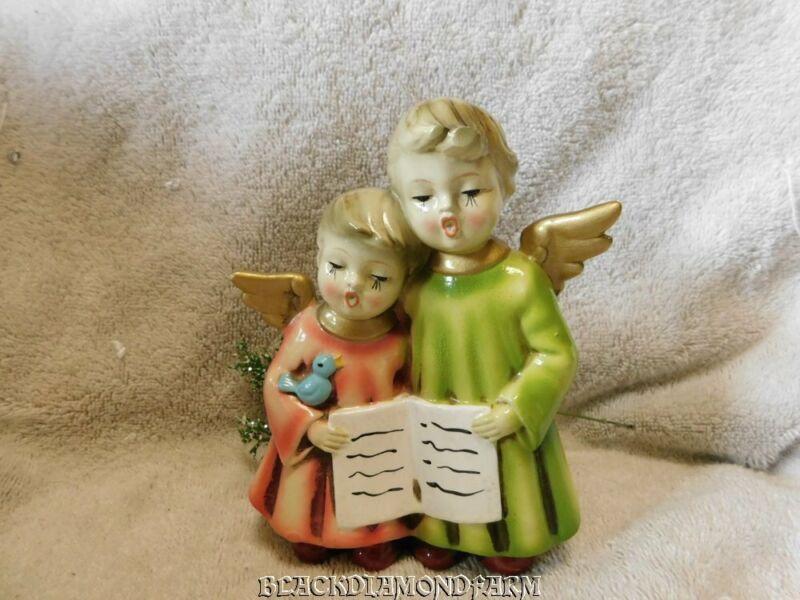 "VINTAGE SINGING ANGELS FIGURINE "" SO CUTE "" * NO BOX *"