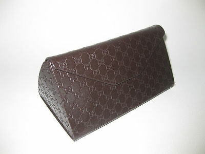 GUCCI GUCCISSIMA LARGE BROWN SUNGLASSES CASE WITH CLEANING CLOTH  (Gucci Sunglasses Case)
