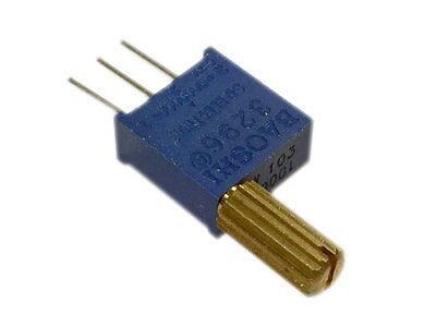 1m Ohm Multi-turn Trimmer Potentiometer 3296 W Handle - Pack Of 2