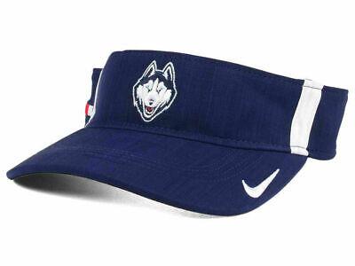 UCONN CONNECTICUT HUSKIES NCAA Basketball NIKE Dri Fit Golf Tennis Visor Hat NWT
