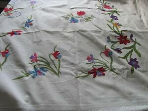 Exquisite vintage embroidered blanket cover--- now reduced
