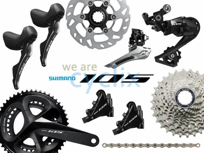 New 2021 Shimano 105 R7000 R7020 Hydraulic Disc Brake Groupset 170/172.5/175mm