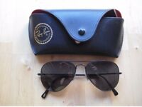 Women Rayban aviator sunglasses with corrected eyesight