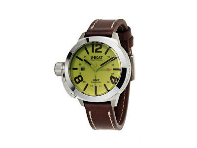 U-Boat Classico 45 BE GMT Stainless Steel & Green Dial Automatic Watch 8051 for sale  Shipping to Nigeria