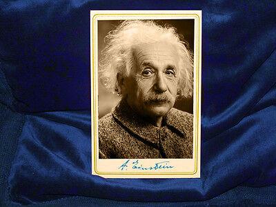 ALBERT EINSTEIN Physics Genius Cabinet Card Photograph Autograph RP