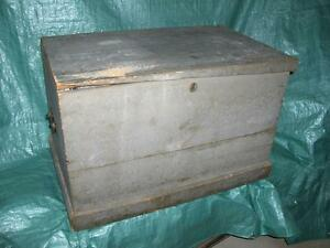 Antique Pine Blanket Box - Circa 1880