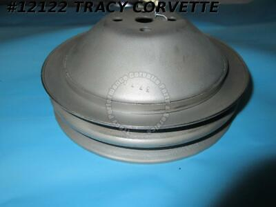 1962-1968 Corvette Water Pump Pulley Deep Double Groove GM# 3770245 SHP Refurb