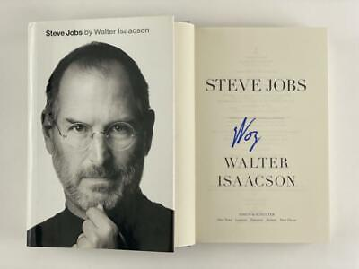 "STEVE WOZNIAK THE WOZ SIGNED AUTOGRAPH ""STEVE JOBS"" BOOK - APPLE CO-FOUNDER ACOA"