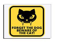 Dimenticare The Dog Beware Of The Cat Insegna Per Porta Porta D'ingresso -  - ebay.it