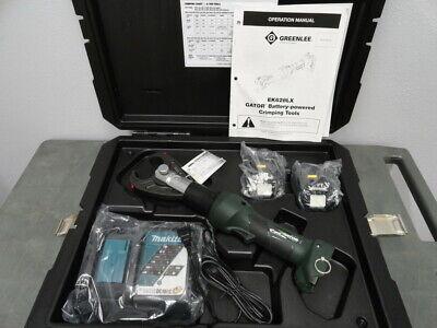 Greenlee Ek628lx11 6 Ton U Die Cordless 18v Battery Inline Crimper Kit