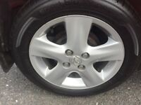 TOYOTA YARIS 4 STUD ALLOY WHEEL WITH TYRE INCLUDED