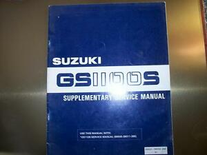 NOS 1983 SUZUKI KATANA GS1100S SUPPLEMENTARY SERVICE MANUAL