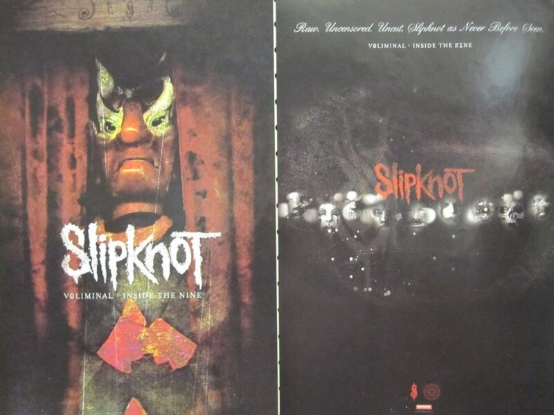 SLIPKNOT 2006 Voliminal 2 sided promotional poster Flawless New Old Stock