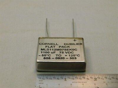 Cornell Dubilier Mls112m075ek0c 1100uf 75vdc Flat Pack Electrolytic Capacitor