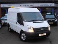 2012 Ford Transit 2.2 TDCI 350 FWD MWB 140PS Van In White REVERSING CAMERA