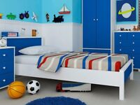 GFW Miami Blue and White Single Bed new