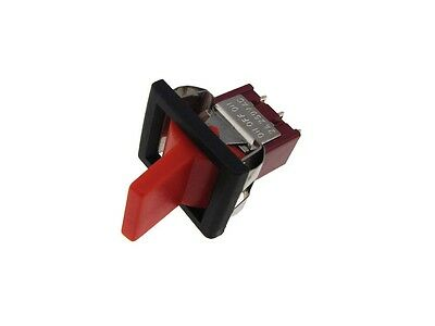 3-pin Toggle Switch - Red - Panel Mount Type On-off-on