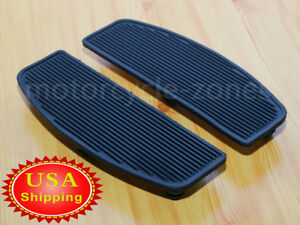 Front Rubber Rider Insert Floorboard Footboards Foot peg For Harley Touring Dyna