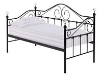 Pretty day bed £80 ono with 2 thin mattresses