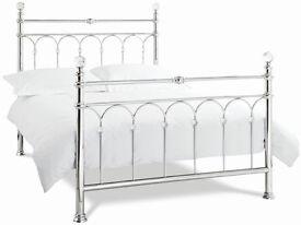 New. Bentley designs. Krystal antique nickel double bed 135 x 200 cm