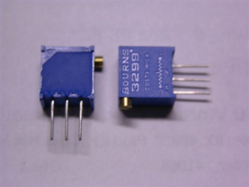 "15 Bourns 3299X-1-202 2K Ohm 3/8"" Side Adjust Trimmer Potentiometers"