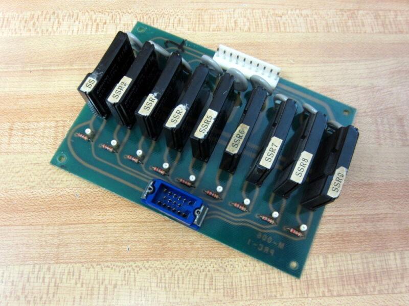Mori Seiki M-006 Relay Circuit Board PRC-1 9 White Indicators