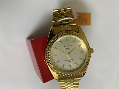 Activa SWISS Men's Stainless Steel Watch  Yellow gold tone