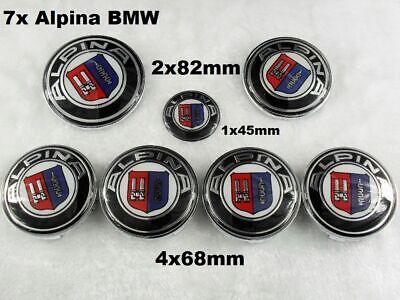82mm Vorne und Hinten Emblem 3er 5er 7er Motorhaube Kofferraum ALPINA 82mm
