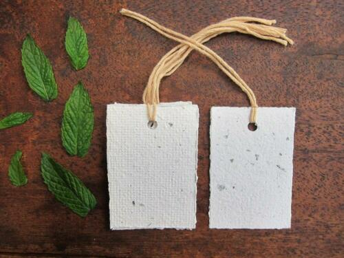 Gift tag handmade recycled paper tag swing tag from handmade paper