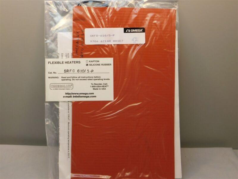 "Omega SRFG-610/5-P Omegalux Silicon Fiberglass Insulated Flexible Heater 6x10"""