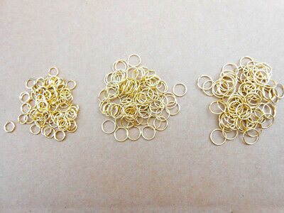 9mm 1000 Rounds (1000pcs 3-9MM Round Jump Ring Gold Color Suitable for Jewelry)