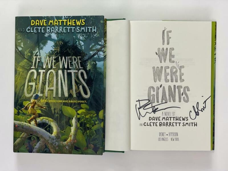 """DAVE MATTHEWS AUTOGRAPH """"IF WE WERE GIANTS"""" BOOK - UNDER THE TABLE AND DREAMING"""
