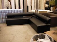Large office / waiting area faux leather corner sofa 250x250cm
