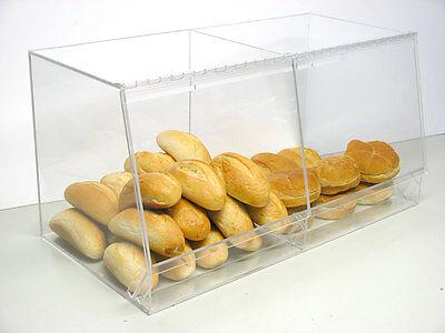 Bulk Bread Storage display case containers deli bakery sandwich Pastry Donut De Li Container