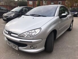 PEUGEOT 206 CONVERTIBLE 3DR SILVER IMMACULATE CAR LOW MILES