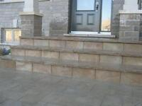 Reparation pave-uni, mur, paysagiste, landscaping, amenagement