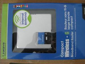 LINKSYS COMPACT WIRELESS-G BROADBAND ROUTER LIKE NEW