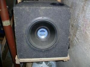 "9"" mtx blue thunder sub in box"