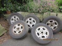 "FOR SALE: 5 x Land Rover Freelander 15"" steel wheels"