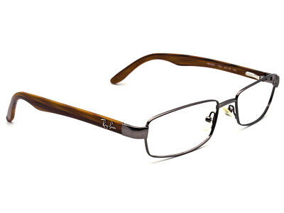 Ray Ban Eyeglasses RB 8581 1000 Titanium Gunmetal Wood-grain Frame 52[]18 140