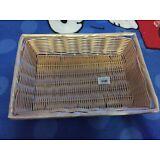 Lot of 6! Tablecraft 1188W Rectangle Ratten Basket 14x10x3 NEW!