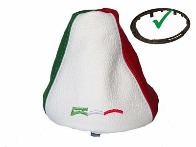 Shift Boot With Bottom Plastic Frame For Fiat 500 Abarth Leather Italian Flag