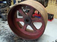 FOR SALE: Flat belt side power take off wheel - Antique tractor