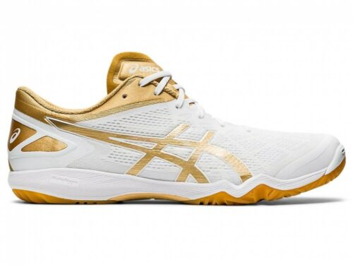 Asics Table tennis Shoes ATTACK DOMINATE FF 2 1073A010 WHITE/PURE GOLD