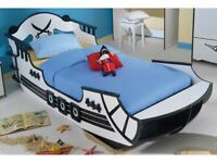 Childs single bed sized pirate ship bed